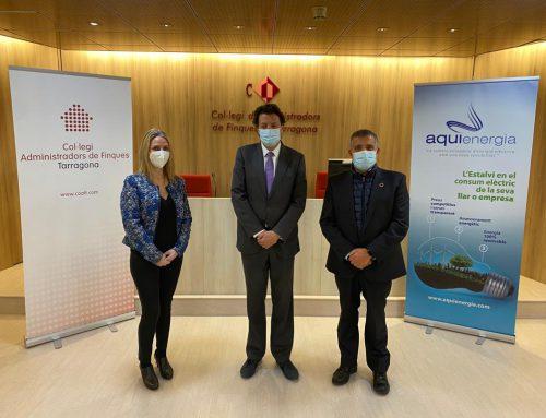 Renovació de l'acord de col·laboració amb el Col·legi d'Administradors de Finques Col·legiats de Tarragona
